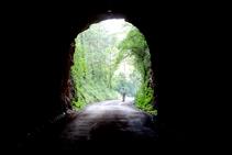 Saliendo del segundo túnel.