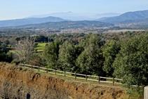 Vistas hacia el Montseny desde el mirador.