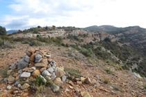 Alto de la sierra de Pessonada, donde encontramos un gran hito.