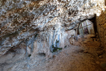 Interior de la ermita de Sant Joanet.